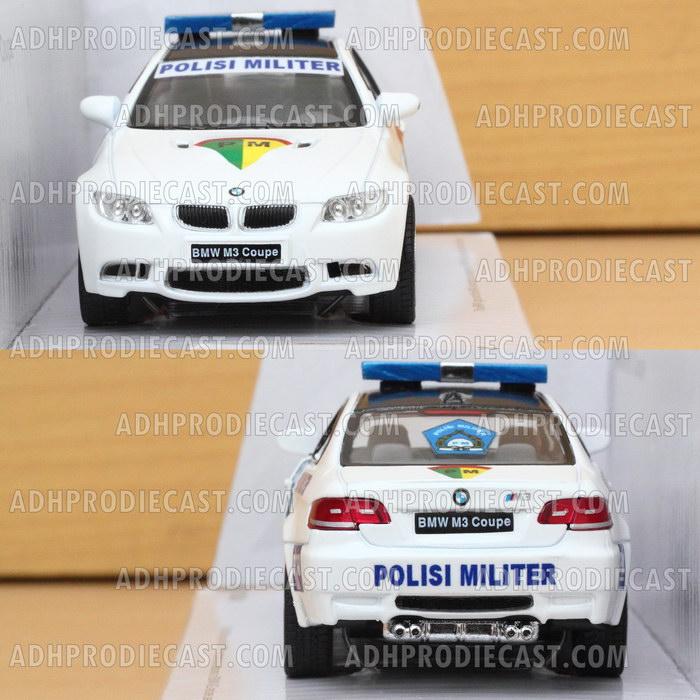 Miniatur Mobil BMW M3 Coupe Polisi Militer