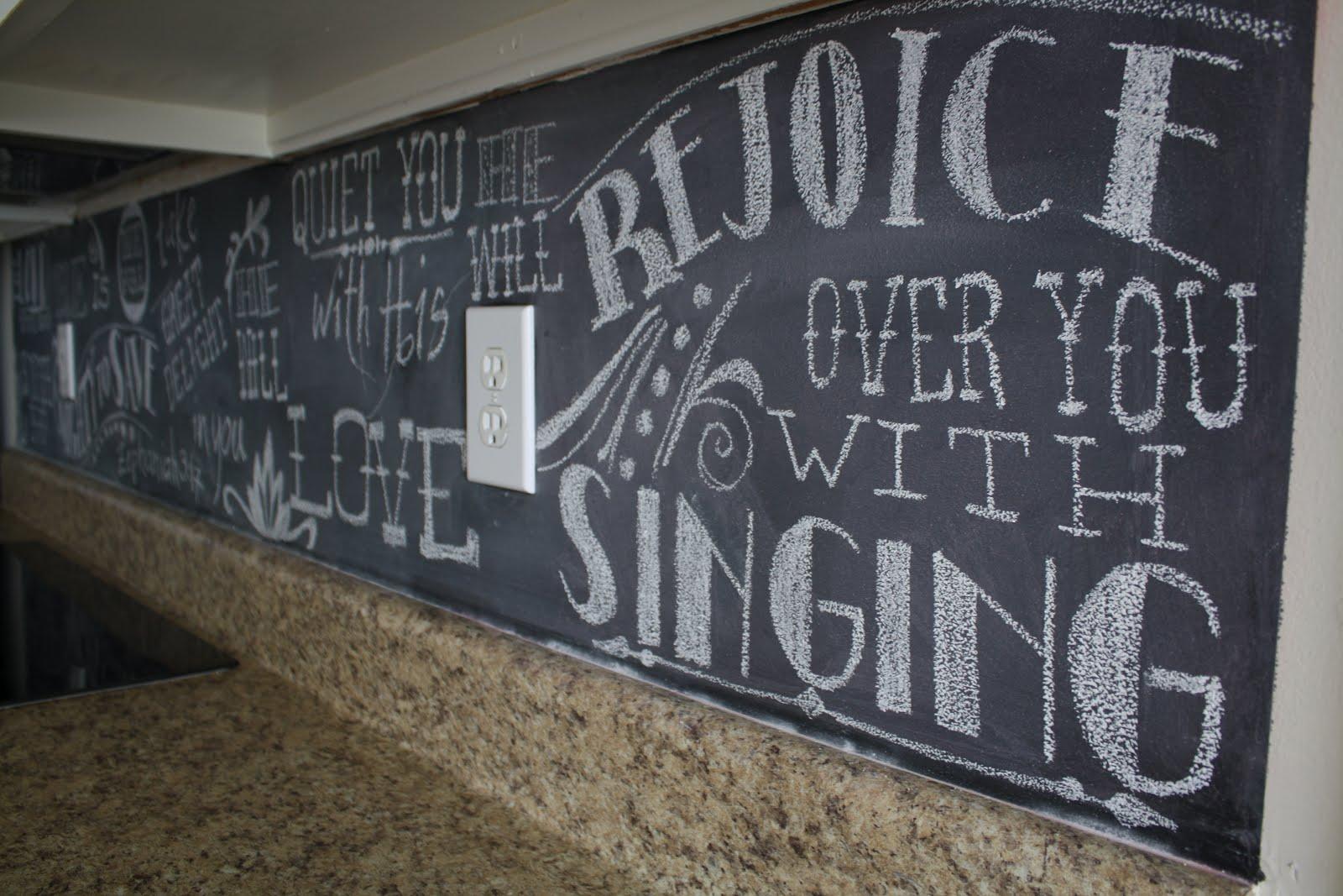 Http Johnandmelanieg Blogspot Com 2012 07 Chalkboard Backsplash Html