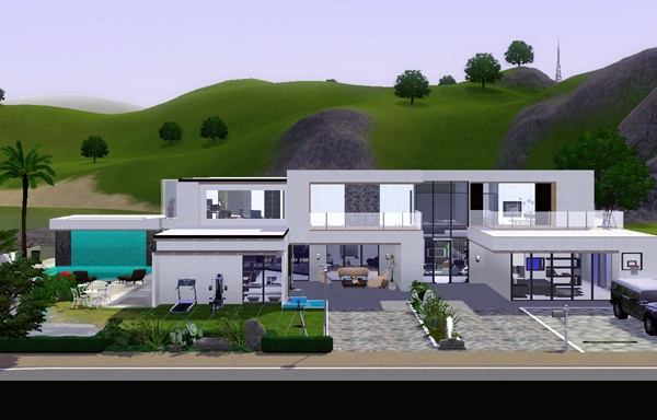 modern Style house THE SIMS 3. Koalafolio sims3 House    LIVING DESIGN  MODERN HOUSE THE SIMS 3