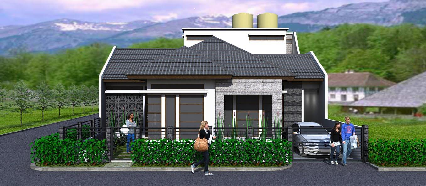 rumah minimalis di posisi hook rancangan rumah dan tata