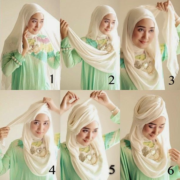 Tutorial Hijab Kreasi ala Dian Pelangi | Cara Memakai Jilbab Tutorial ...