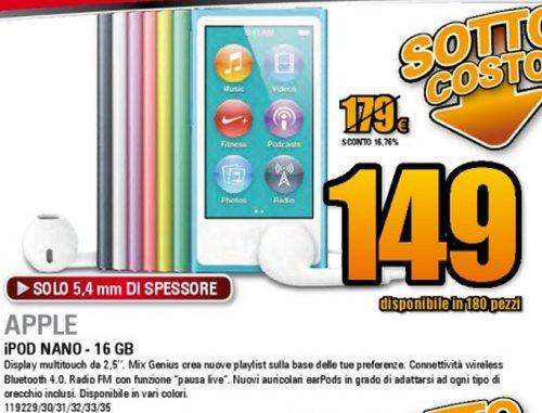 Colpo di coda nel volantino Darty di fine gennaio 2013 con offerte sottocosto tra cui l'iPod Nano di 6a generazione di Apple