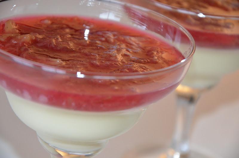 pannacotta med rabarberkompott recept