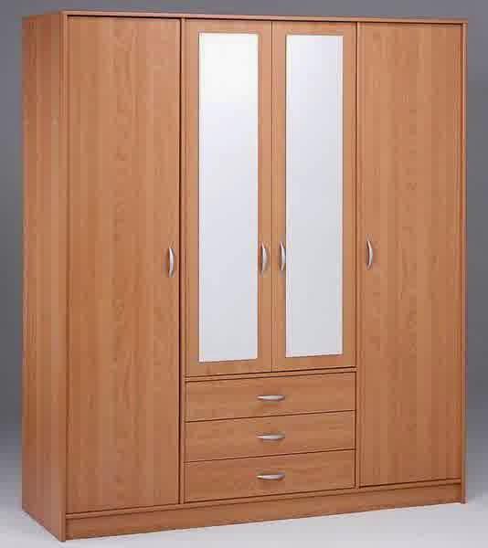 model lemari pakaian kayu