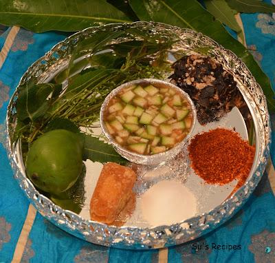 Ugadi Pachidi, ugadi prasad, mix of 6 taste
