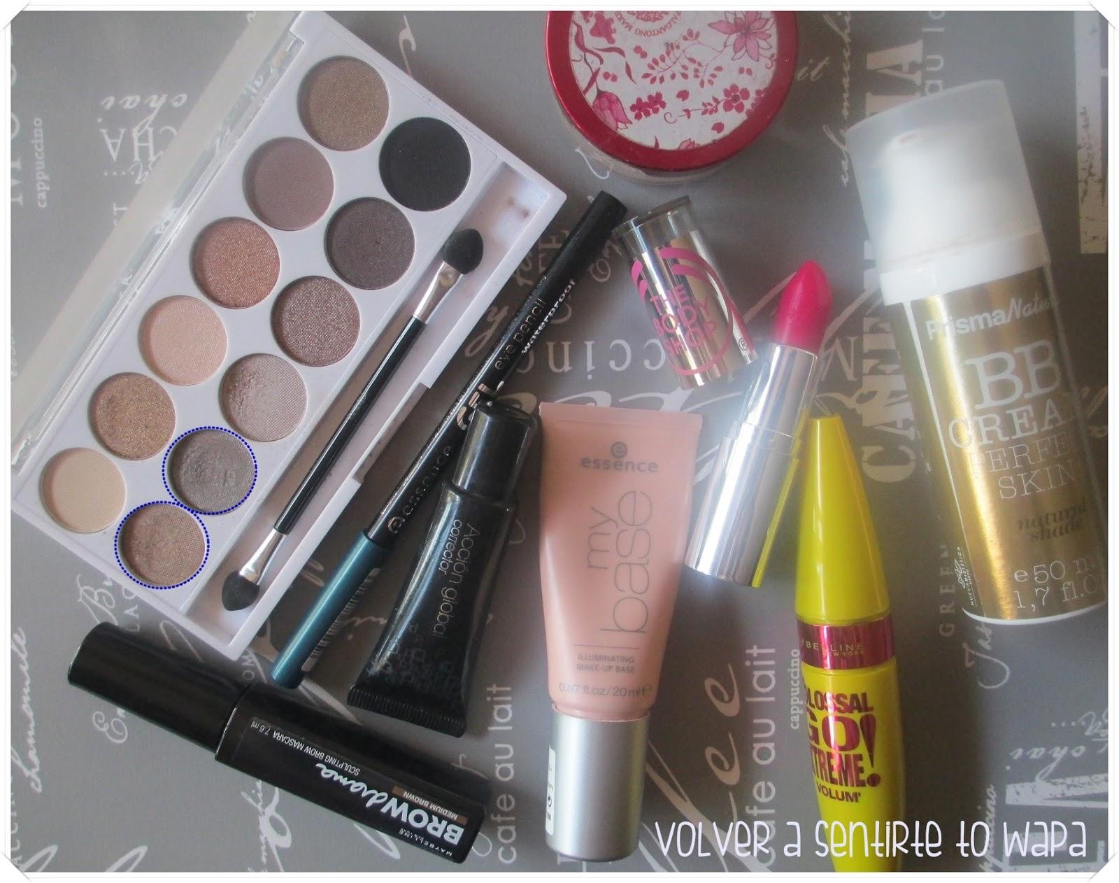 Productos usados para el maquillaje con un toque verde - Volver a Sentirte to Wapa