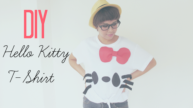 sharpie marker, diy sharpie tee, diy hello kitty t-shirt, fashion tutorial