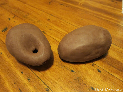 how to make a clay ocarina, small ocarina