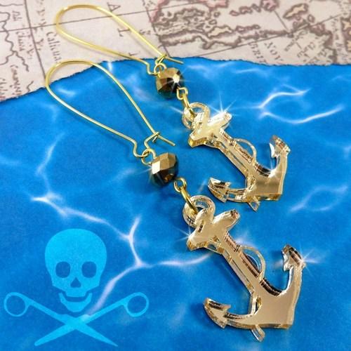 Gold Anchor Earrings9