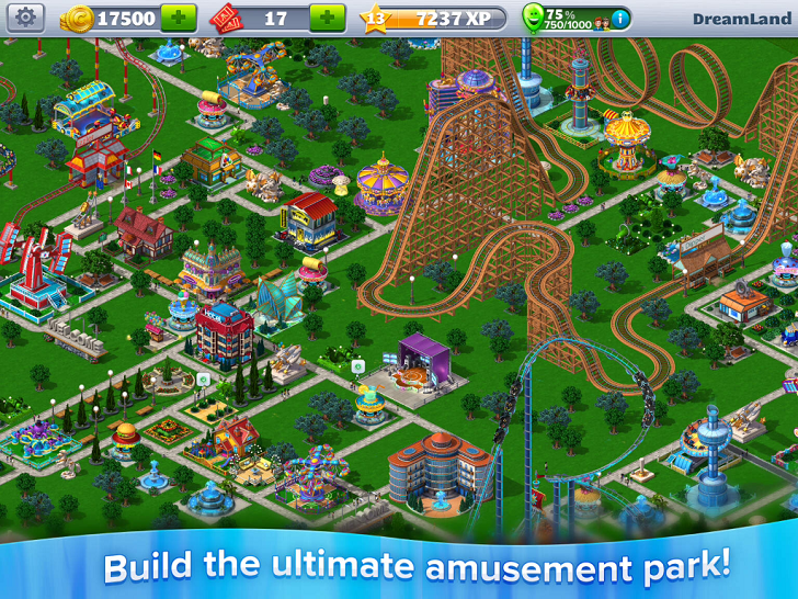 RollerCoaster Tycoon 4 Mobile Free App Game By Atari