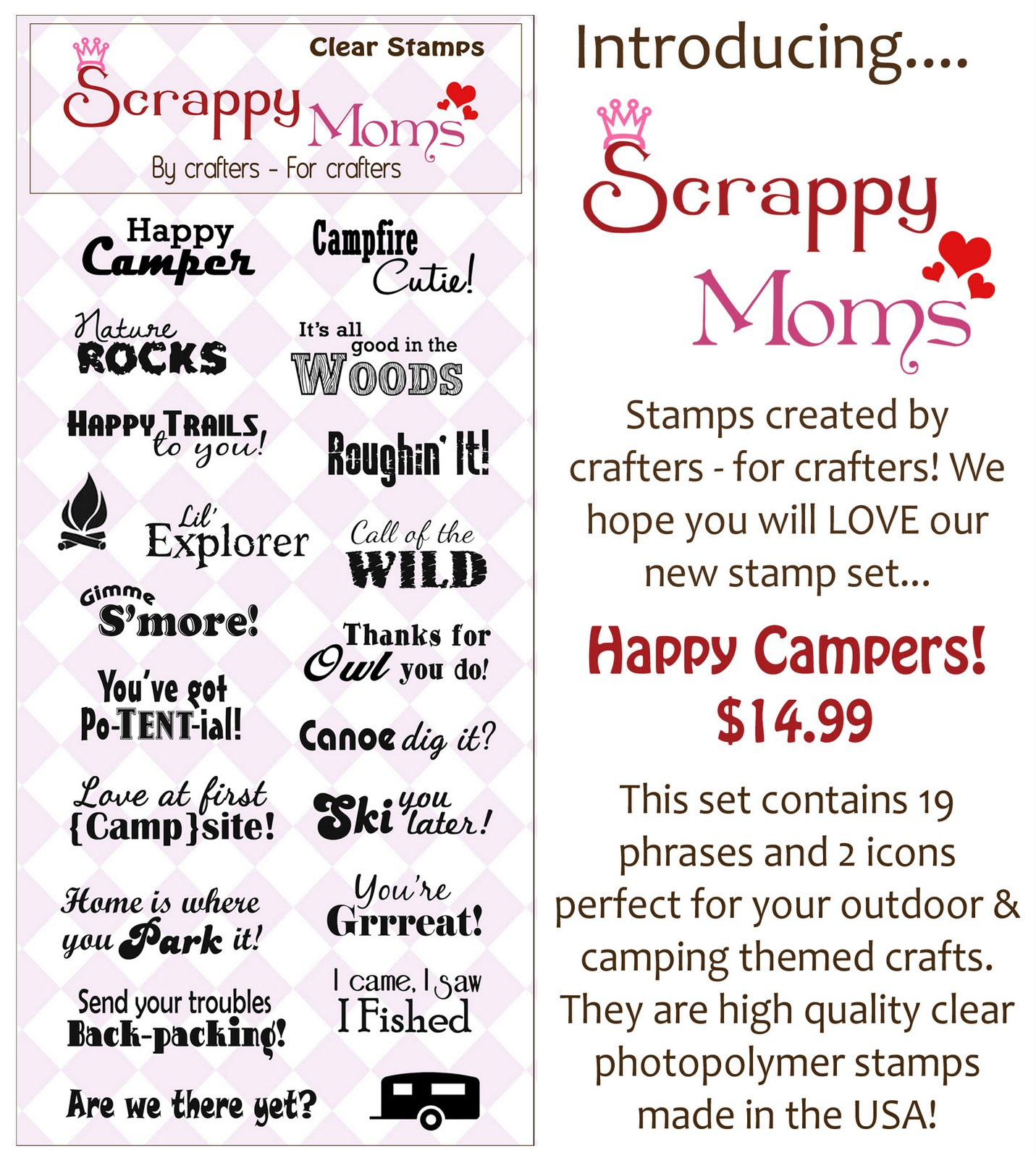New Scrappy Moms Stamps Happy Friday