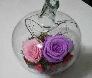 Rosas Naturales Preservadas rosadas y lila ¡Duran 4 Años! Santa Ana, El Salvador