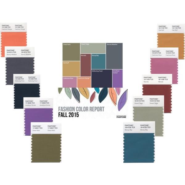 Pantone Colours For Fall 2015