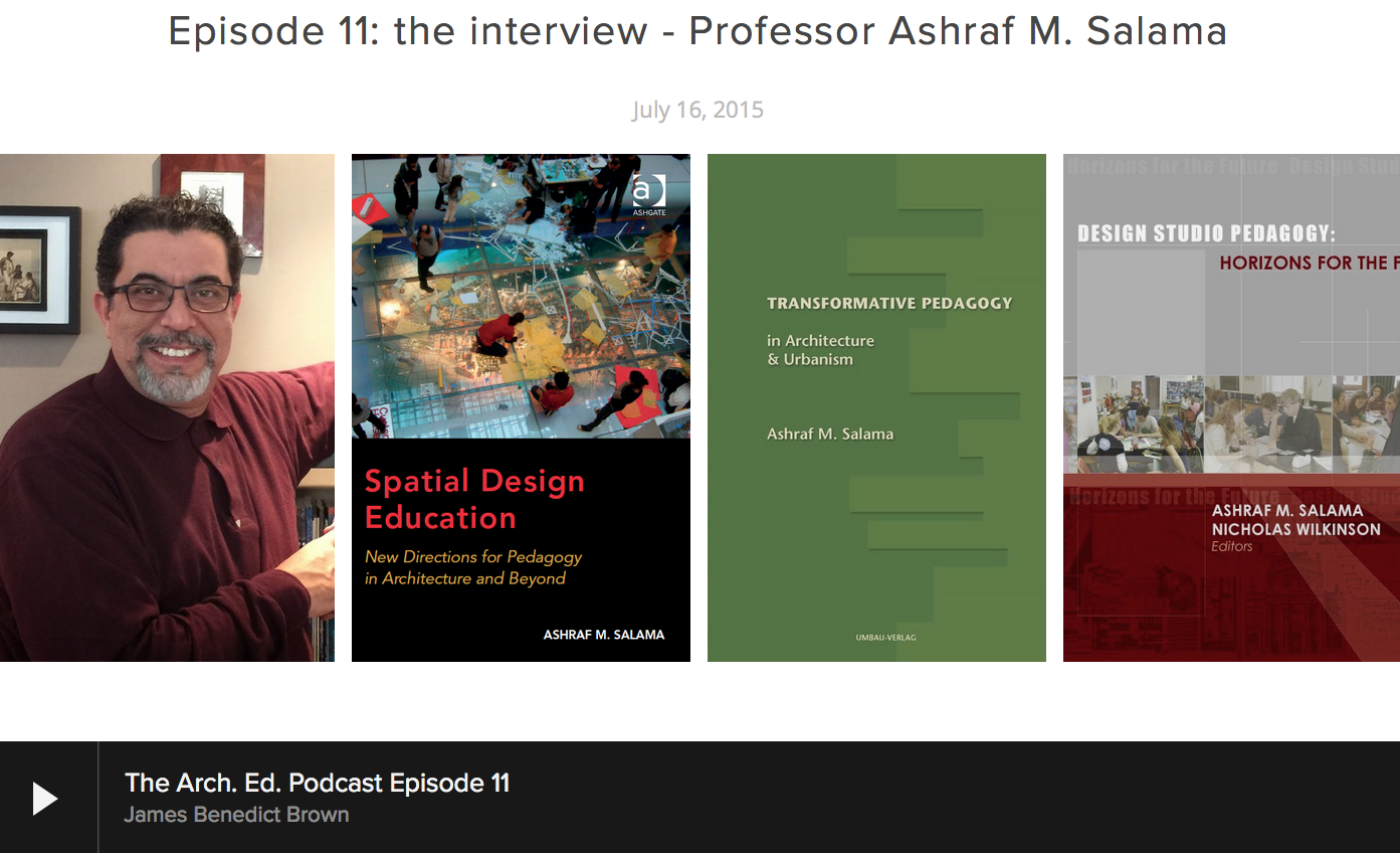 Interview on Arch. Ed. Podcast