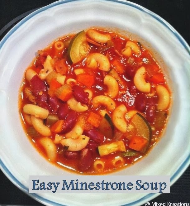 Easy Minestrone Soup @ Mixed Kreations