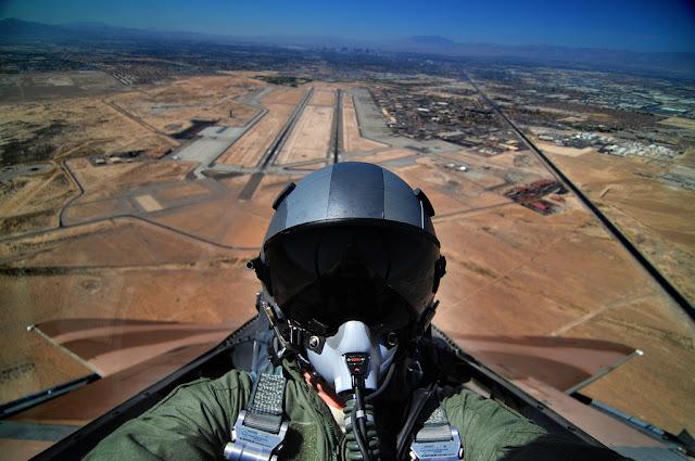 F-16 cockpit view