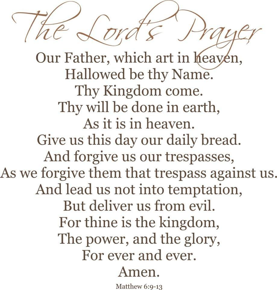 Mesmerizing image with regard to printable lords prayer