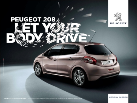 pup 208 peugeot 208 let your body drive infos live. Black Bedroom Furniture Sets. Home Design Ideas