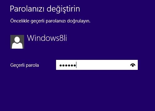 Windows 8.1 Parola Olmadan Oturum Açma
