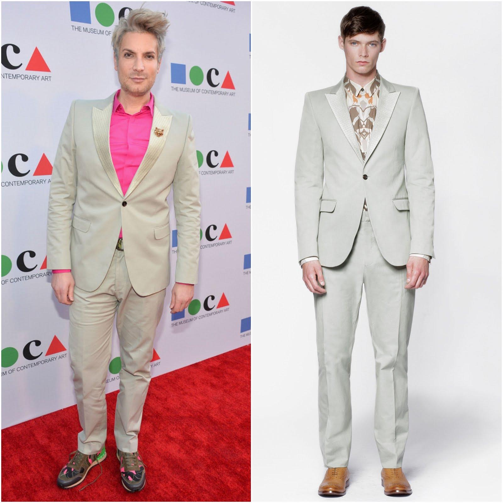 """Cameron Silver in Alexander McQueen - """"Yesssss!"""" MOCA Gala 2013"""