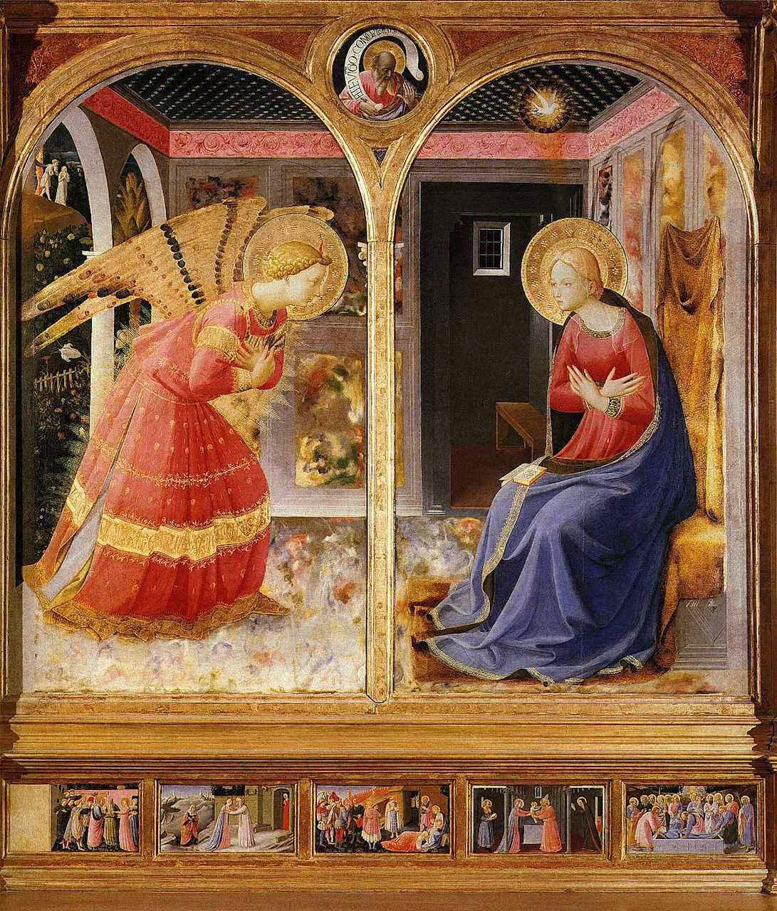 Anunciação, Santa Maria delle Grazie, S. Giovanni Valdarno, Arezzo, Itália. Beato Fra Angélico (1395 – 1455)
