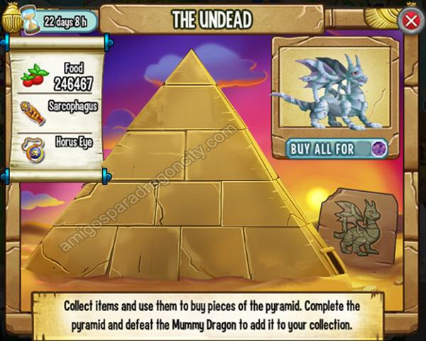 Los Muertos Vivientes Segundo Juego De La Isla Egipcia De Dragon City