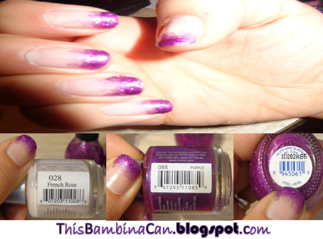 This Bambina Can: Ombre Nails - Clear to Glitter