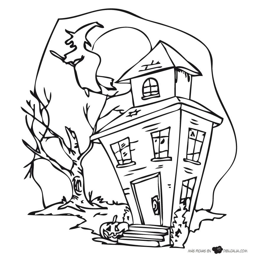 Fantástico Casas Embrujadas Para Colorear Galería - Enmarcado Para ...