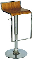 EHO Studios Light Polished Plywood Bar Stool with Gas Lift - Set Of 2