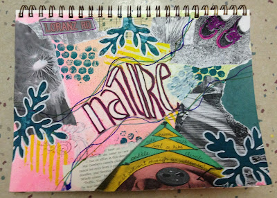 Nature art journal page