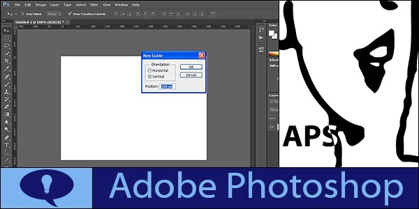 Precisely position guide in Photoshop using New Guide from View menu