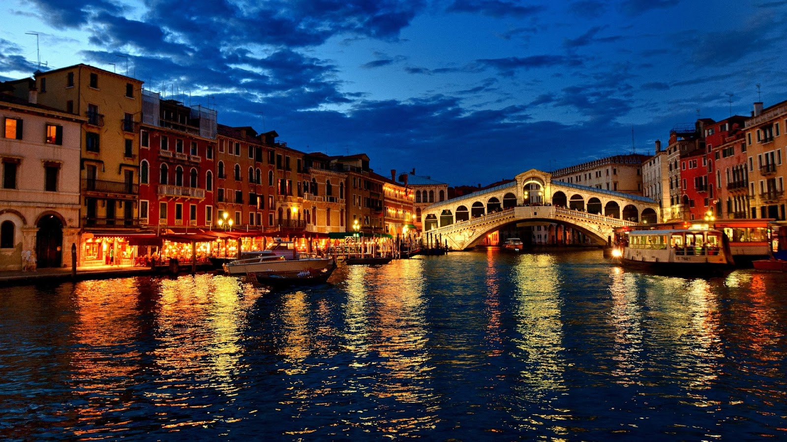 Grand Canal Venice Night Venice at Night Grand Canal