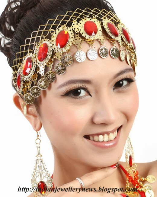 Belly Dance Hair Accessory with Earring Set
