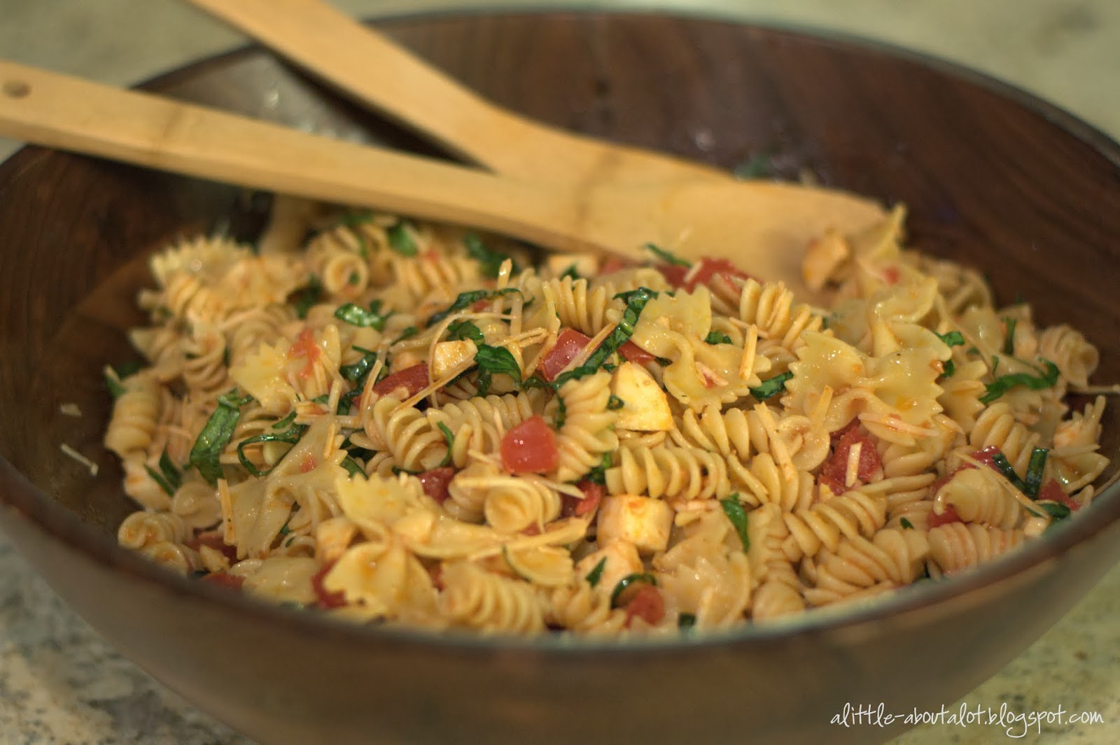 little about A LOT: Sun Dried Tomato Pasta Salad