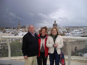Con Pepe Calahorro e Inma. Abril 2012