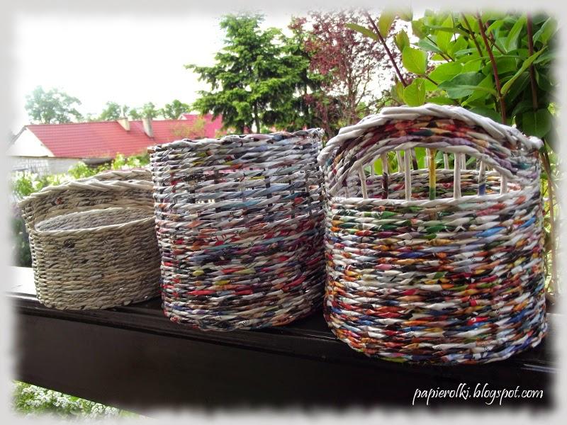 Koszyki rurkowniki - czyli wiosenne porządki