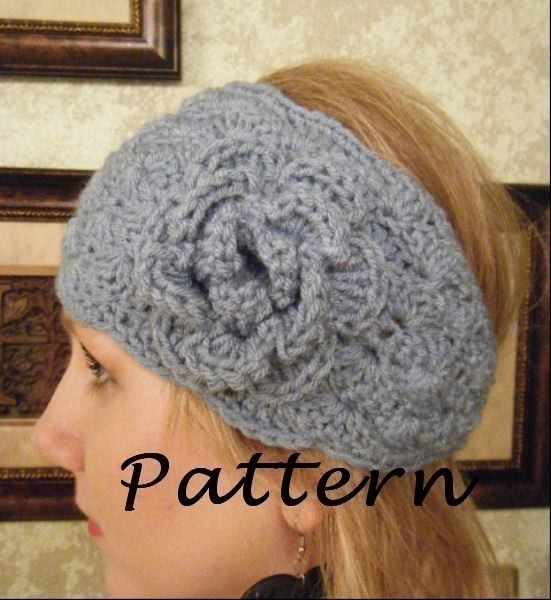 Free Crochet Pattern Headband Ear Warmer Button : Crochet Headwrap Pattern