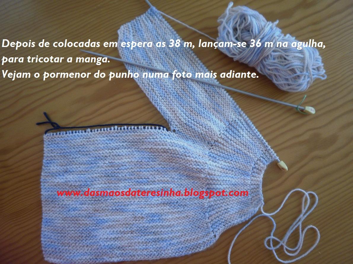 Casaco de tricô para bebé tam. 1 a 4 meses