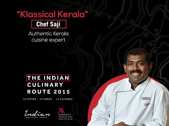 Indian Culinary Route Whitefield Marriott Bangalore, Chef Saji