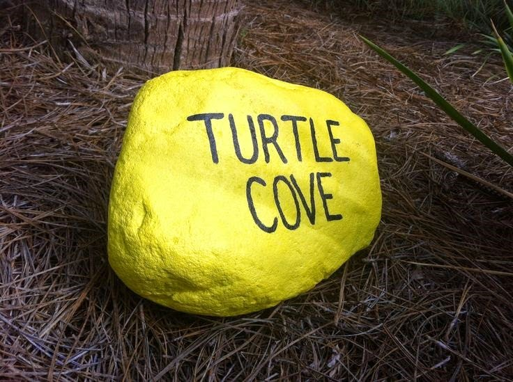 Yellow Painted Rock - An ode to Bonaire