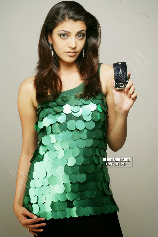 Kajal Agarwal mobile phone ad