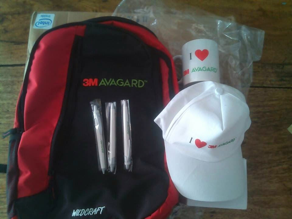Freebies Received !! Received Today One WildCraft Laptop Bag, Cap