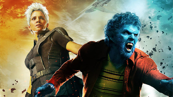 halle berry ororo munroe / storm and hank mccoy / beast in x men days of future past