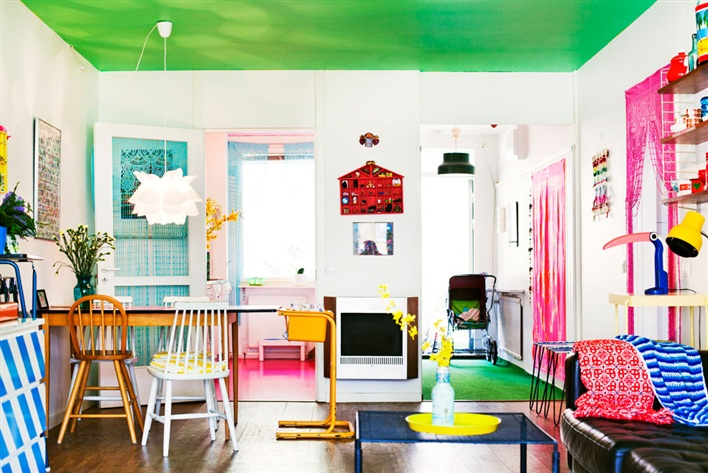 House Tour: Not Another Whitish Swedish House (A Colorful