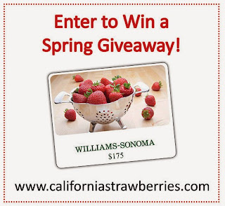 California Strawberries $175 Williams-Sonoma gift card giveaway!