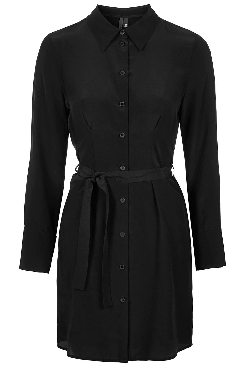 silk black shirt dress, topshop boutique shirt dress,