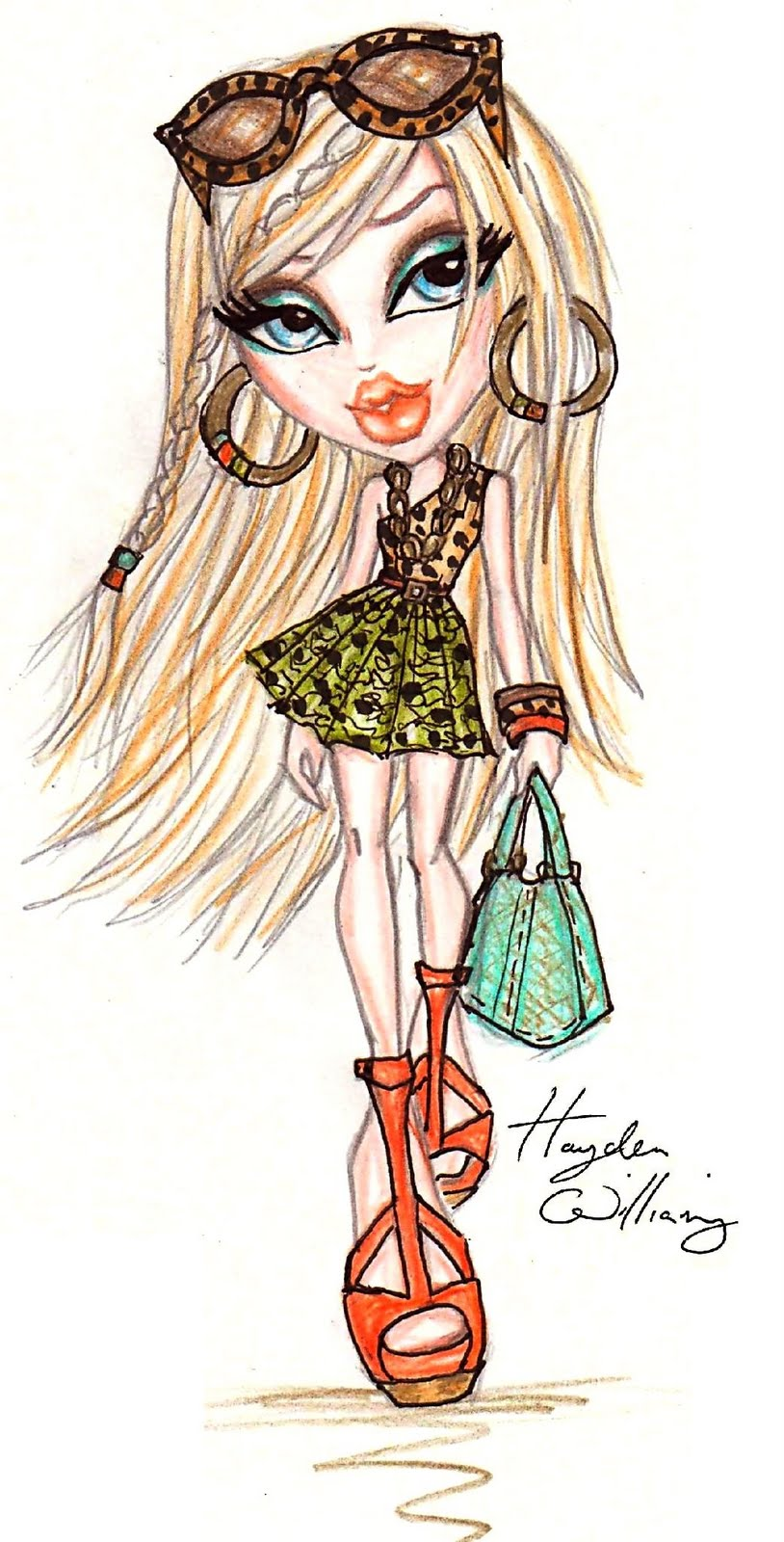 Hayden Williams Fashion Illustrations Bratz 39 Style It 39 Cloe Designed By Hayden Williams