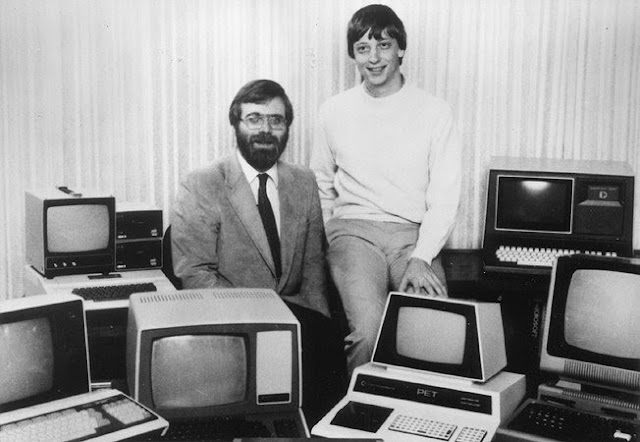 Bill Gates y Paul Allen en sus inicios