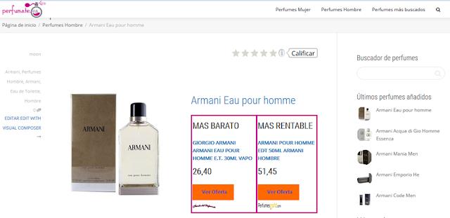 Perfumate comparador de perfumes