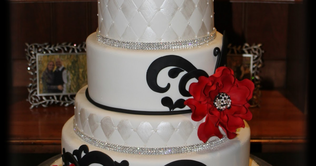 on birthday cakes red black and white wedding cake. Black Bedroom Furniture Sets. Home Design Ideas